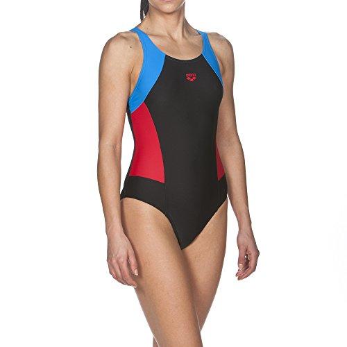 ares5Mujer Arena Sport REM–Bañador black-Red-pix blue