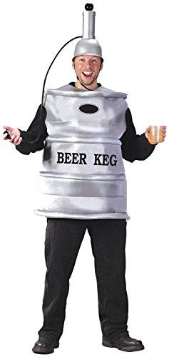 Solo Cup Halloween Costume (FunWorld Men's  Beer Keg Costume, Silver, One)