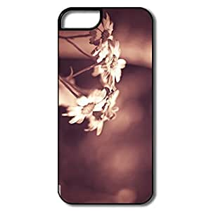 IPhone 5 5S Cases, Daisies Sepia White/black Cases For IPhone 5 wangjiang maoyi