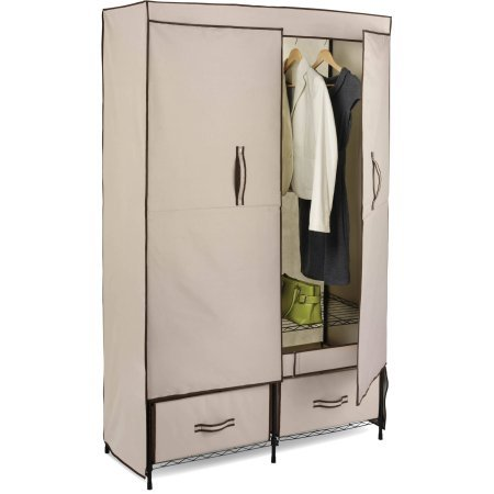 Honey Can Do Double-door Wardrobe with Two Drawers by Honey Can Do*