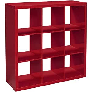 Better Homes And Gardens 9 Cube Organizer Red Lacquer Home Kitchen