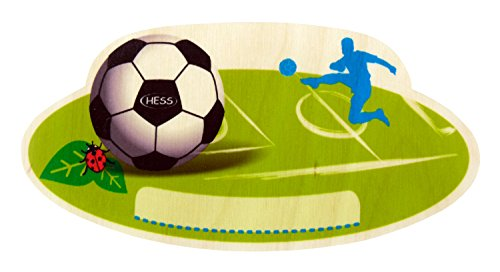 (Hess Wooden Soccer Nameplate Baby Toy)