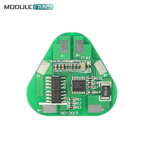 Batcus 3S 4A Li-ion Li-Po Cylindrical Prismatic Lithium Polymer Battery 3 Cell PCB Module Short Circuit Overcharge Protection Board ()