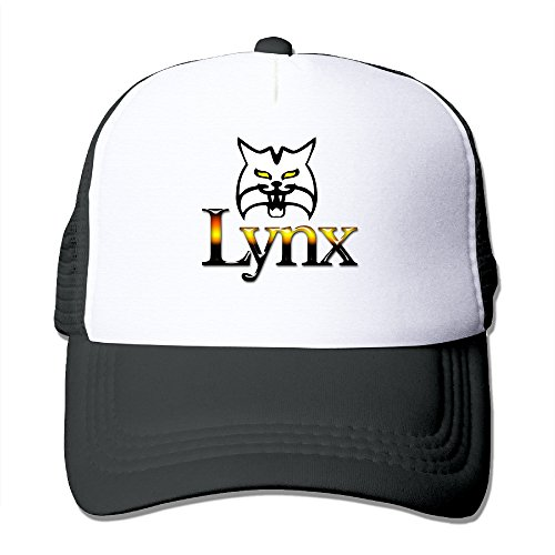 Price comparison product image HandSon Custom Casual Two-toned Lynx Wolf Summer Cap Hat Black