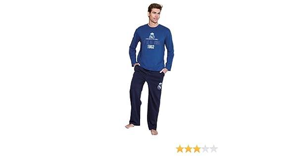 Pijama Oficial Hombre REAL MADRID 1902 Azul 2017-2018: Amazon.es: Ropa y accesorios