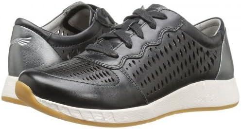 [ダンスコ] レディース 女性用 シューズ 靴 スニーカー 運動靴 Charlie - 黒 Leather [並行輸入品]  36 (US Women's 5.5-6) Regular