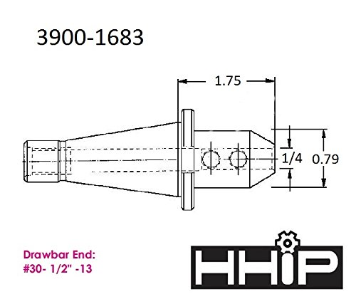HHIP 3900-1683#30 Nmtb End Mill Holder, 1/4''