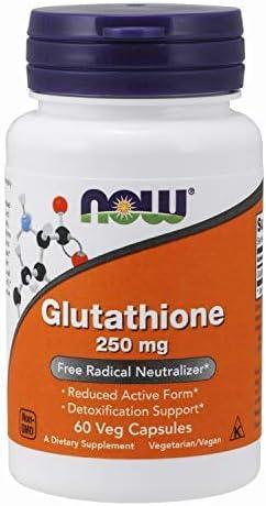 Glutathione 250 mg 60 Veg Capsules FamilyValue 2Pack 60 VegCaps fjl Now