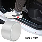 Car Door Sill Protector Universal Door Sill Guard Car Door Trim Edge Guard Protection Film Anti-Collision Fits for Most Car (2In x 33Ft, Transparent)