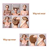 6pcs Nylon Wig Caps, 2pcs Brown Skin Tone Stocking