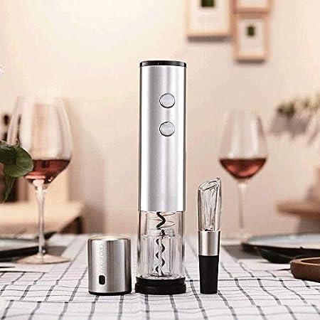 JYDQM Sacacorchos del Vino, Vino Sacacorchos eléctrico, el Vino Sacacorchos Inalámbrico Kit con Cuchillo de la Hoja, sacacorchos eléctrico automático