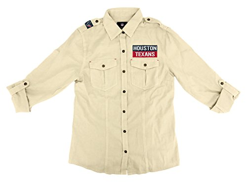 NFL Houston Texans Women's Linen Field Shirt, Large ()