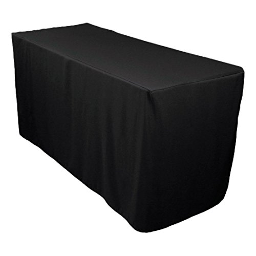 LinenTablecloth Double Knit Polyester Professional Table Cover, 4 Ft