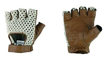 cd30f613c Image Unavailable. Image not available for. Colour: Gloves Omp Tazio: Vintage  Cream/Marron Leather ...