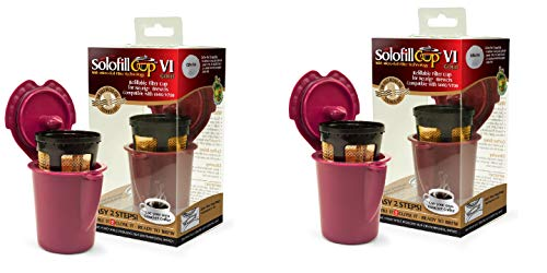 Solofill V1 GOLD CUP 24K Plated Refillable Filter Cup for Coffee Pod (2 - Solofill Cup