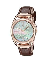 Gucci Women's YA140507 Horse bit Analog Display Analog Quartz Brown Watch