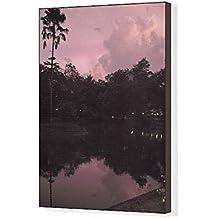 Media Storehouse 20x16 Canvas Print of Asia, India, Kerala (Backwaters). Sunset over Kumarakom Lake (13921506)