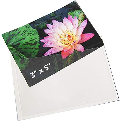 Bx Self Adhesive - Index Card Pocket, Self-Adhesive, Top Opening 3 x 5 100/BX (#21150)