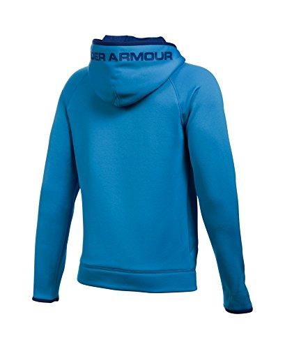 Under Armour Boys' Storm Armour Fleece Highlight Big Logo Hoodie, Brilliant Blue/Caspian, Youth X-Small by Under Armour (Image #1)