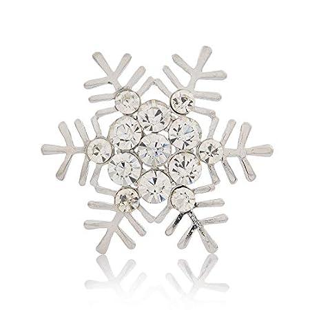 JulyLab Snowflake Napkin Rings Set of 12 Silver Rhinestone for Wedding Banquet Christmas Holiday Dinner Decor Favor