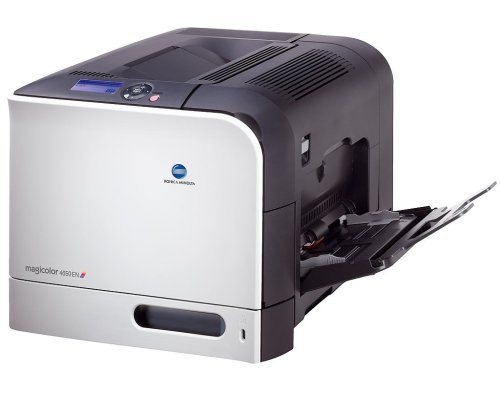 Color Printer Magicolor Laser (Konica Minolta magicolor 4650EN - Printer - color - laser - Legal, A4 - 9600 dpi x 600 dpi - up to 24 ppm (mono) / up to 24 ppm (color) - capacity: 350 sheets - Parallel, USB, 1000Base-T, direct print USB)