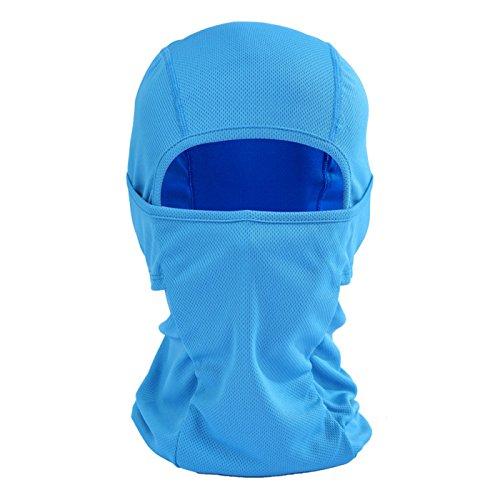 Runtlly Full Face MaskHeadband Motorcyle Mask Tactical Hood Balaclava Ski Mask 05 Blue