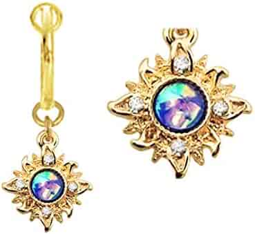 Shopping Sun Moon Stars Gold Plated Body Jewelry Jewelry