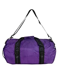 Foldable Travel Luggage Duffle Gym Sport Shoulder Bag Lightweight for Weekend (Big, Purple)