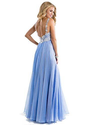 Bridal line Dress Long 2016 reg; Bridesmaid Straps Dress Navy Prom Aurora Chiffon A dw6BXdq