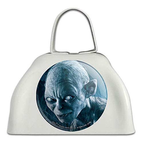 The Lord of the Rings Gollum Character White Metal Cowbell Cow Bell Instrument (Lord Of The Rings In Concert Usa)