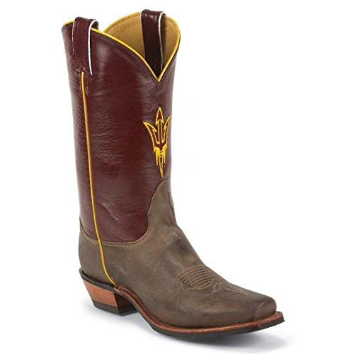 Nocona MDASU21 Mens Arizona State University Maroon/Tan College Boots