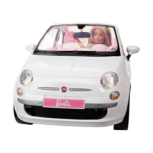 Barbie FVR07 Bambola con Fiat 500, Macchina con Dettagli Realistici, Portiere Apribili 4 spesavip