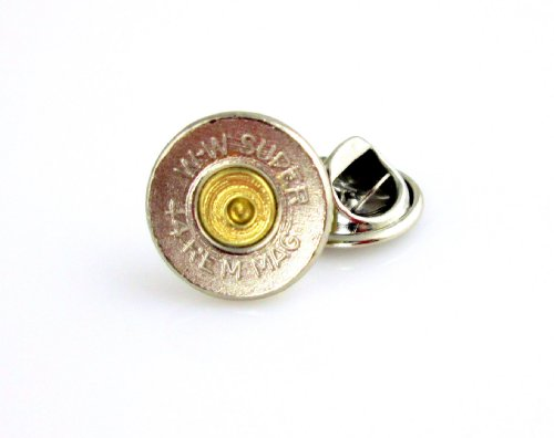 (Winchester 44 Magnum Nickel Bullet Tie Tac-Hat Pin)