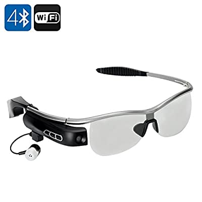 WEAR Bluetooth Smart Glasses - Bluetooth 4.0, Polarized Lens, Wi-Fi, 8MP Camera, Video Recorder, 8GB ROM