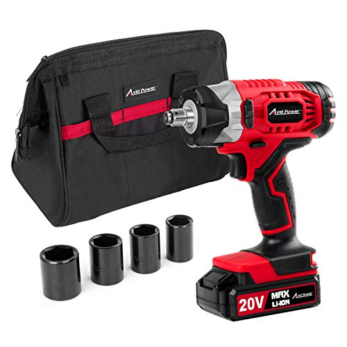 20V MAX Cordless Impact Wrench with 1/2' Chuck, Max Torque 230N.m, 4Pcs Driver Impact Sockets, Tool Bag and 1.5A Li-ion Battery, Avid Power MCIW326