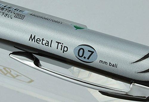 Pentel EnerGel RTX Deluxe Retractable Liquid Gel Pen, Fine .7mm Metal Tip, Black Ink, Silver Barrel (Bulk Lot of 15) (BL77-A) by Pentel (Image #3)