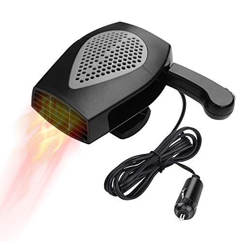 Portable Car Heater, Auto Electronic Heater Fan Fast Heating Defrost 12V 150W Car Heater, Plug Adjustable Thermostat in Cigarette Lighter, 2 in 1 Heating/Cooling Function 3-Outlet Car Heater (Black) (Heater That Plugs Into Cigarette Lighter In Car)