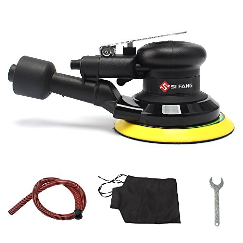 "5"" Air Random Orbital Sander,Self-Generated Vacuum ,Dual Action Pneumatic Tool"