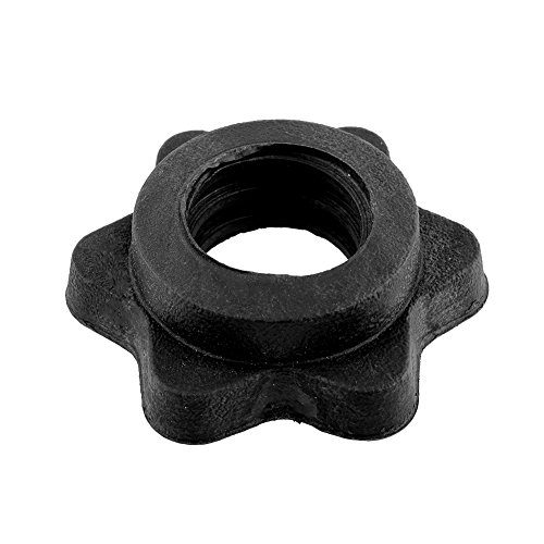 Relefree Pair Of Vinyl Spinlock Collars Fit For 1' Standard Weight Lifting Barbells Dumbbell Bars...