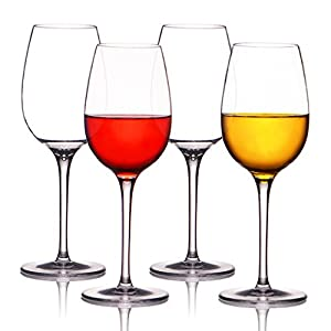 MICHLEY Unbreakable Red Wine Glasses, 100% Tritan Plastic Shatterproof Wine Goblets, BPA-free, Dishwasher-safe 12.5 oz