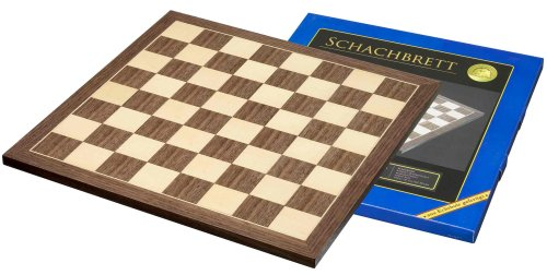 (Philos walnut and maple chessboard 45cm (with 50mm squares))