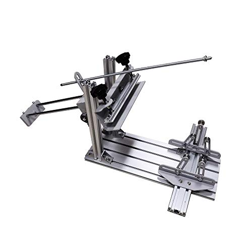 POVOKICI Manual Cylinder Screen Printing Press, for Pen/Cup/Mug/Bottle (with 10in Squeegee) in US Stock