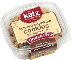 Katz Gluten Free Cookies, Colored Sprinkle, 6 Ounce