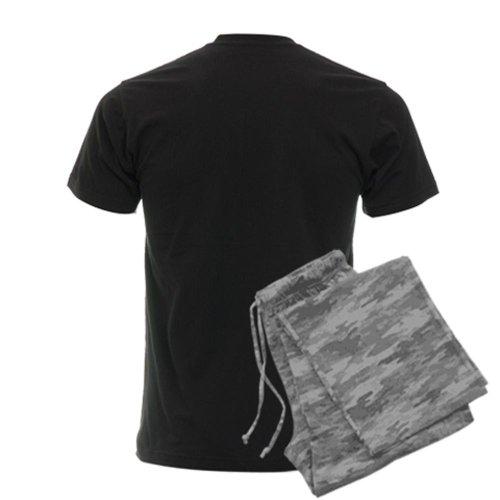 CafePress srt8 Men's Dark Pajamas Men's Dark Pajamas - XL With Grey Camo Pant