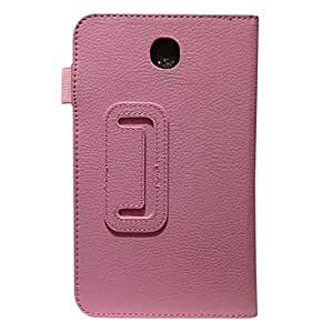 Rotating Leather Case for Samsung Galaxy Tab 3 7.0 T211(Assorted Color) , Rose