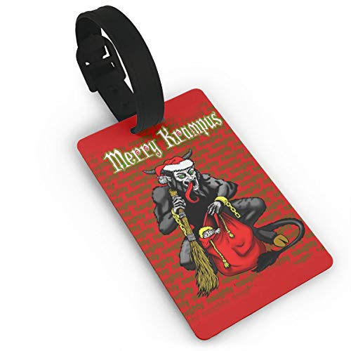 Mars Sight Merry Krampus Red Travel ID Label for Bag with Strap,Luggage Tag Travel Baggage ()