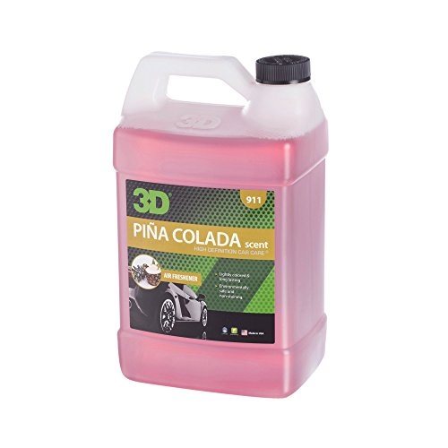 (3D Air Freshener Pina Colada Scent - 1 Gallon | Water Based Odor Eliminator | Made in USA | All Natural | No Harmful Chemicals)