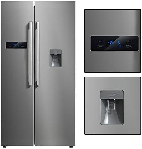 BIG 650 IX+ O2 - Frigorífico americano combi con congelador y ...