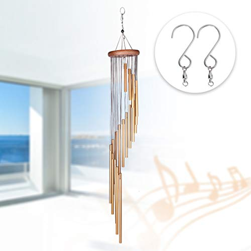 DEWEL Wind Chimes Amazing Grace Wind Chime with 18 Aluminum Alloy Tubes 36 Large Wind Chimes with Free 1 Pack Hooks Home Decoration for Indoor Outdoor Patio Lawn Garden Balcony Porch Backyard