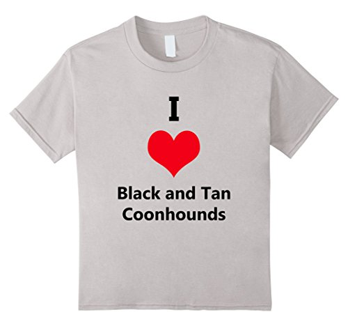 Kids I Love Black and Tan Coonhounds Dog Breed Tshirt 4 - Coonhound Dog Breed